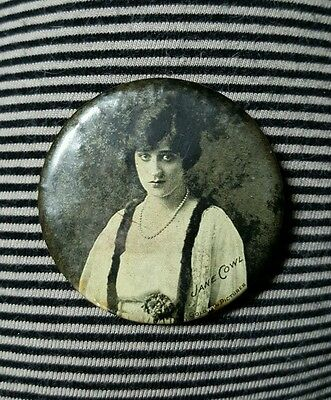 JANE COWL Goldwyn Pictures Actress Celluloid Pocket Mirror Silent Film Movies