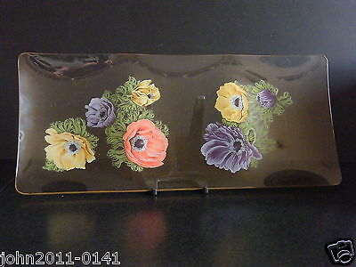 Chance Fiestaware Anenome Pattern Glass 3 Division Serving Dish 33.5 cm Boxed