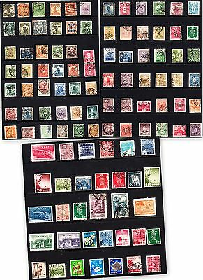 100+ Unsorted Chinese and Japanese stamps. Used.