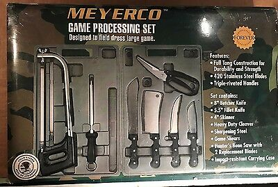 New MEYERCO Game Processing Set, Knives for Field Dress Large Game