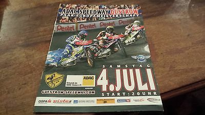 European Pairs Semi Final 2015--Speedway Programme--Gustrow--4Th July 2015