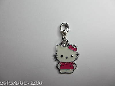 Hello Kitty Pink Bow White Silver colour Pet Cat Collar Jewellery Clip on Charm
