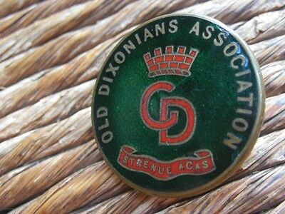 Old Dixonian's Association Numbered Enamel Button Hole Lapel Badge