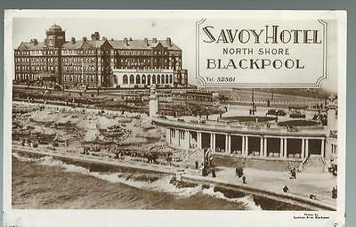 Old Postcard  Savoy Hotel  North Shore  Blackpool     Posted  1951