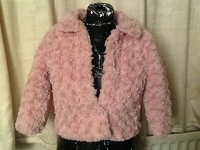 beautiful party coat age 5 6 pink fluffy princess style fully lined warm jacket