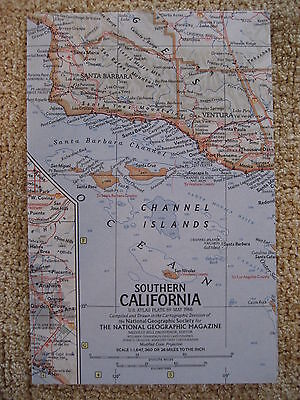 vintage map Northern California vintage National Geographic Map 1966