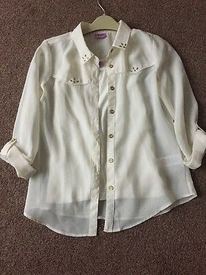 Girls 2 Pce Blouse And Vest Top Age 8-9