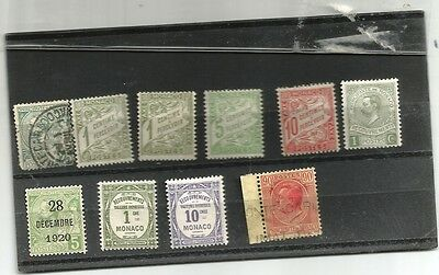 Monaco earlier issues including postage dues mounted mint and used