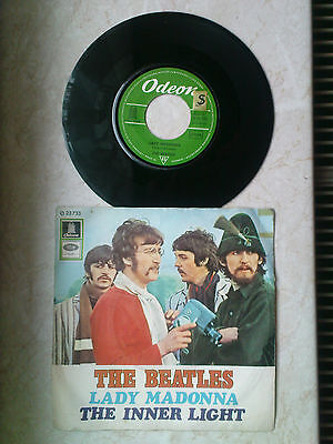 """7"""" Single BEATLES Lady Madonna / The Inner Light Odeon Records selten"""