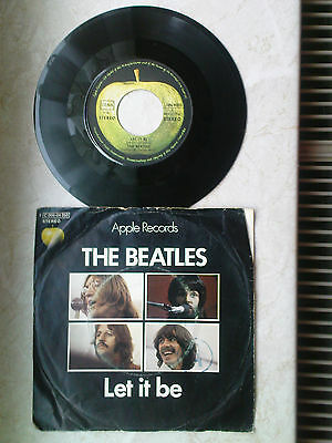 """7"""" Single BEATLES Let It Be / You know my name Apple Records selten"""