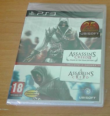 Assassins Creed 1+2 PS3 NEW and SEALED