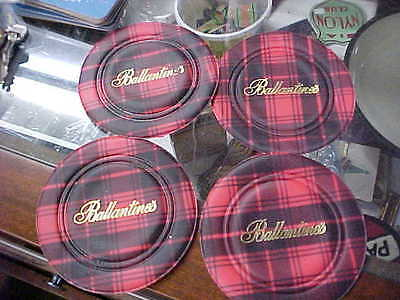 lot of 4 nice ballantines scotch whiskey coasters