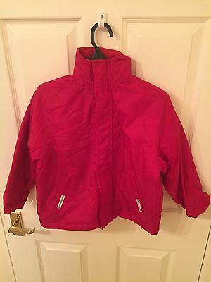 Red unbranded childrens reversible jacket - size Approx age 6