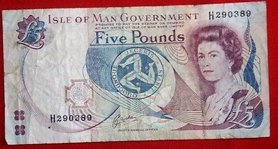 ISLE of MAN - £5 x Used Banknotes