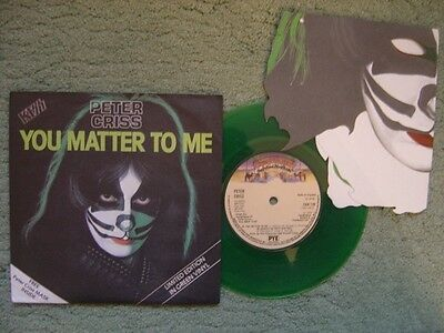 """Kiss Peter Criss 7"""" You Matter To Me Ex+/ex+ With Mask"""