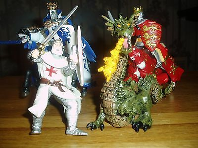Papo Knights/horses Footsoldier And Dragon