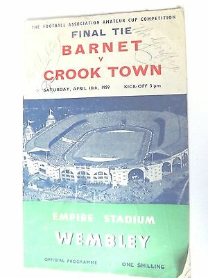 1959  FA Amateur cup Final Programme Barnet v Crook town