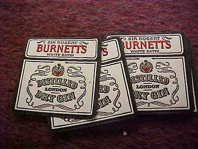 lot of 10 coasters sir robert burnetts london dry gin