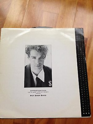 """PET SHOP BOYS 12"""" Opportunities / In the Night - Original release RARE label"""