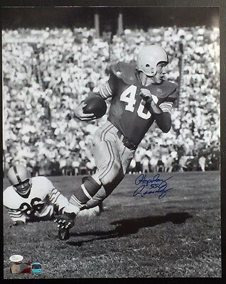 "HOWARD ""HOPALONG"" CASSADY AUTOGRAPHED 16X20 PHOTO w/ JSA COA #Q30082 OHIO STATE"