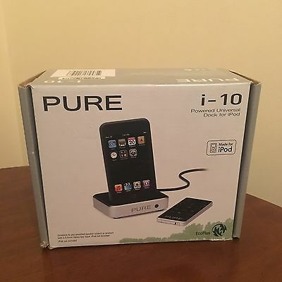 Pure I-10 iPod / iPod Touch 30 Pin Connector Dock  Boxed
