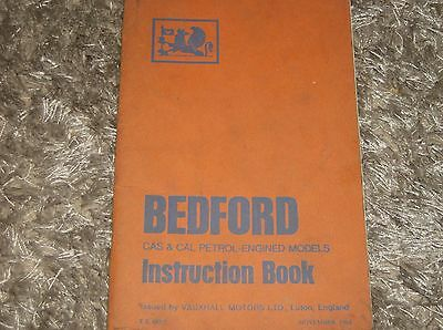 Bedford CAS & CAL petrol engined models Instruction Book