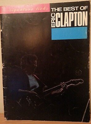 The best of Eric Clapton signature licks .1988 US printing music book