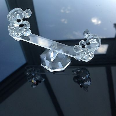 Crystal Art Bears On See Saw Figurines