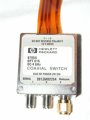 HP 8765A, OPT 015 DC-4GHz Coaxial Switch