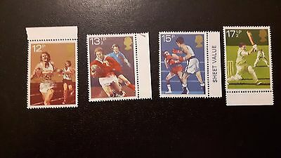 British Stamps 1980 Sport 4 Stamps MNH.