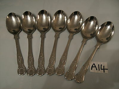 Vintage Set Heavy Kings Pattern Dessert Spoons 18/10 Sheffield Stainless
