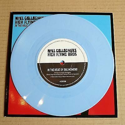 "Noel Gallagher's High Flying Birds - ""In The Heat Of The Moment"" 7 Inch blue"