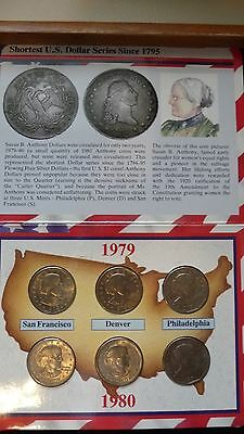 1979 & 1980 Susan B Anthony Souvenir Sets (1979 Wide Rim)