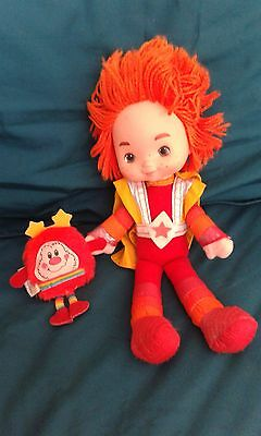"""Vintage 1983 Rainbow Brite Colour Kid Red Butler with mini red sprite Approx 11"""""""
