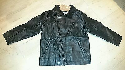 next signature boys faux leather jacket bnwt 2-3 years