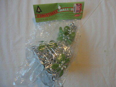 Vintage 1970's Christmas Mistletoe Bell Decoration , new in package
