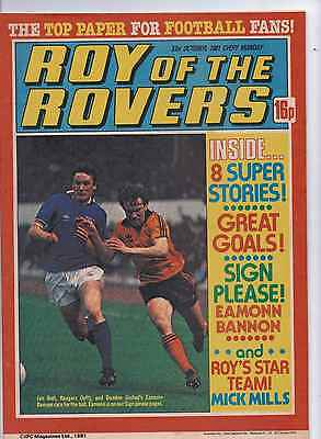 ROY OF THE ROVERS COMIC 31ST October 1981 Eamonn Bannon sign please