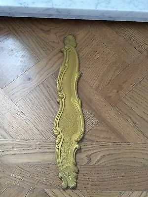 Antique French Brass Finger Plate