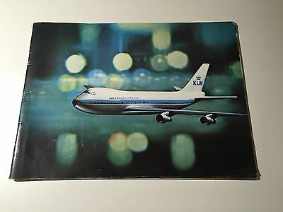 Vintage Klm Fly The Difference Brochure With Boeing 747B Pics & Info