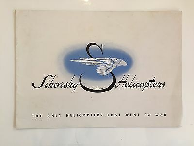 Sikorsky Helicopters Manufacturers Sales Brochure S-51 Helicopter