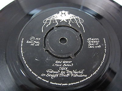 """T.rex Get It On 7"""" 45 Single Glam Rock Bug Records  1971 Marc Bolan"""