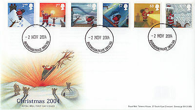 GB 2004 Christmas Stamps unaddressed Royal Mail FDC Buckingham Palace cds
