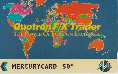 1 Tc  Uk Mercurycard Quotron Trader 20Mera