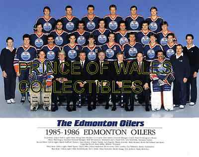 1986 Edmonton Oilers Team Photo 8X10