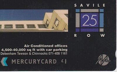 1 Tc  Uk Mercurycard Saville Row 20Merb