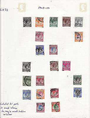 Singapore - 1948-52 Definitives 21 Used 1/2 May Be Mixed Condition Unchecked