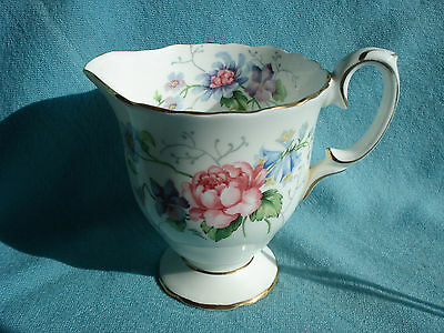 Beautiful Crown Staffordshire Vintage Milk Jug - Englands Glory