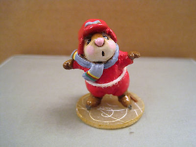 Wee Forest Folk MS-08 Skater Mouse in Red
