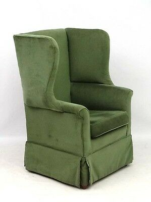 Antique Georgian style large wing armchair for reupholstery