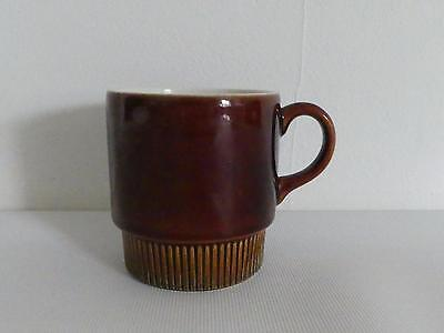 (Ref237) Poole Pottery Brown Chestnut Tea Cup